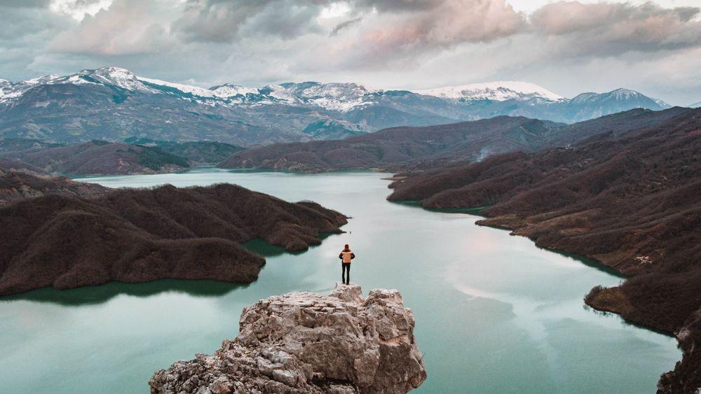Lake Bovilla Albanië